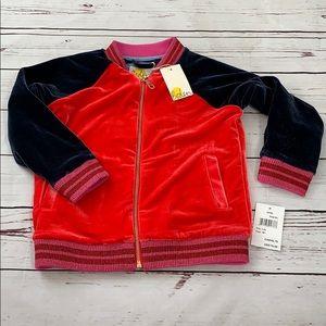 Boden Kids Velvet Bomber Jacket